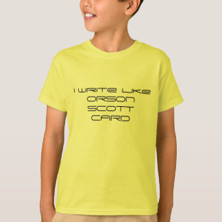 Camiseta Eu escrevo como Orson Scott Card