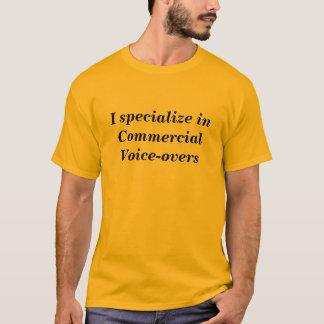 Camiseta Eu especializo-me em Voz-excessos comerciais