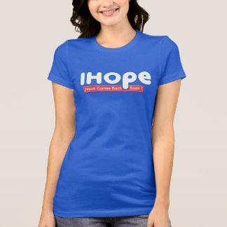 Camiseta Eu espero o t-shirt cristão da fé da bíblia da