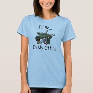 Camiseta Eu estarei em meu jardim do escritório