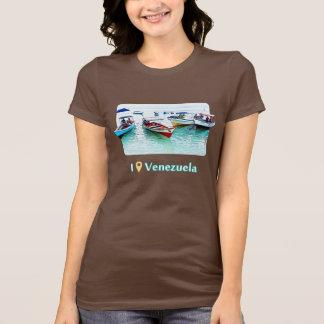 Camiseta Eu estava em Venezuela: Barcos de Fisher em