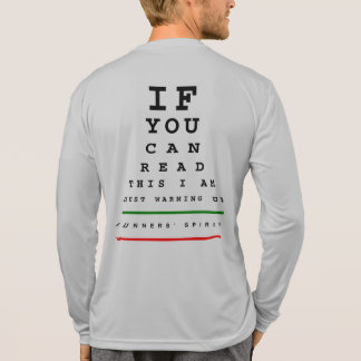 Camiseta Eu estou aquecendo a carta de olho - corredor do