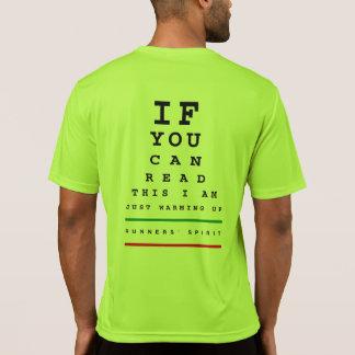 Camiseta Eu estou aquecendo a carta de olho - funcionamento