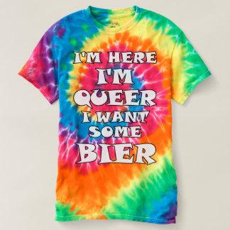 Camiseta Eu estou aqui, mim sou estranho, mim quero algum