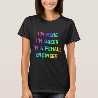 Camiseta Eu estou aqui, mim sou estranho, mim sou um