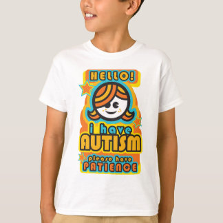 Camiseta Eu estou com o autismo - por favor ter a paciência