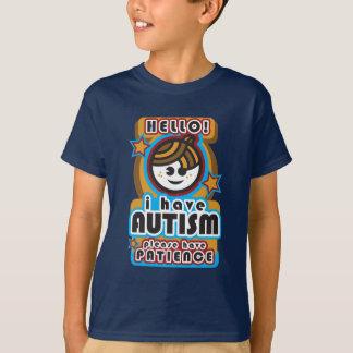 Camiseta Eu estou com o autismo, tenho por favor a