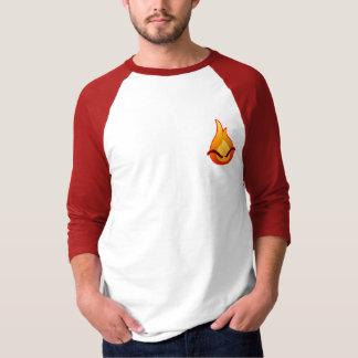 Camiseta Eu estou irritado! T-shirt vermelho do Raglan dos