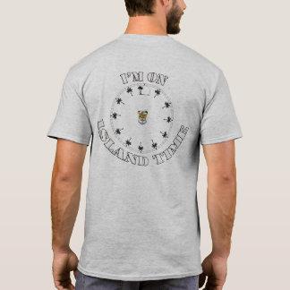 Camiseta Eu estou no t-shirt dos homens do tempo da ilha