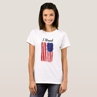 Camiseta Eu estou - o t-shirt da bandeira dos Estados