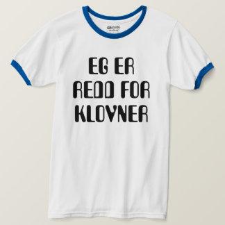 Camiseta Eu estou receoso do branco norueguês dos palhaços