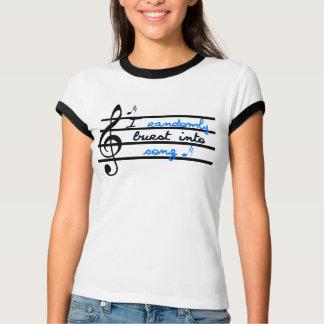 Camiseta Eu estouro aleatòria na canção