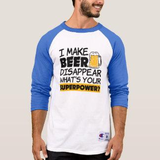 Camiseta Eu faço a cerveja desaparecer o que é sua