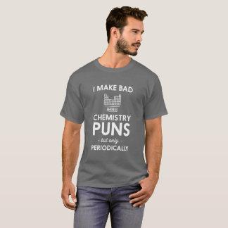 Camiseta Eu faço a chalaças más da química a piada cómico