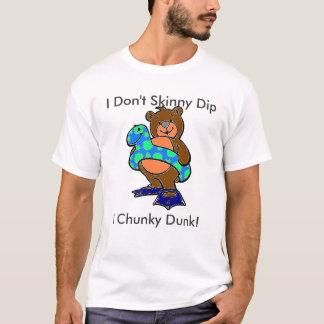 Camiseta Eu faço não mergulho magro mim húmido robusto