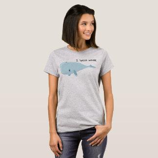 Camiseta Eu falo a baleia  