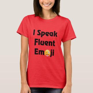 Camiseta Eu falo o t-shirt de Emoji