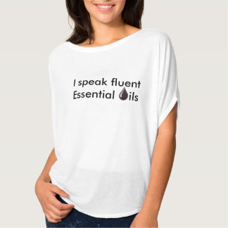 Camiseta Eu falo óleos essenciais fluentes