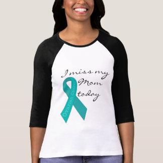 Camiseta Eu falto minha mamã hoje (o câncer de ovário)