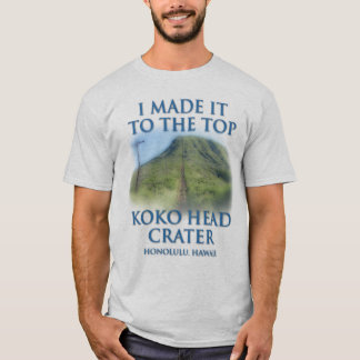 Camiseta Eu fi-lo à parte superior da cratera principal de