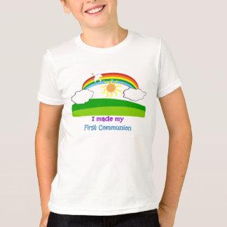 Camiseta Eu fiz a meus primeiros miúdos do comunhão o