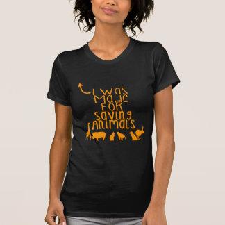 Camiseta Eu fui feito para animais de salvamento