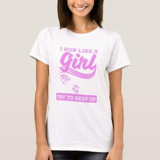 Camiseta Eu funciono como um corredor da menina