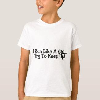 Camiseta Eu funciono como uma tentativa da menina para