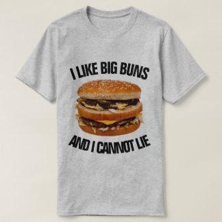 Camiseta Eu gosto de bolos grandes e eu não posso