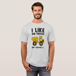 Camiseta Eu gosto de caminhões grandes e eu não posso