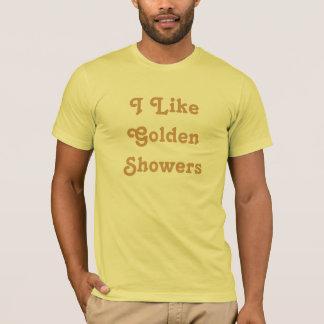 Camiseta Eu gosto de chás dourados