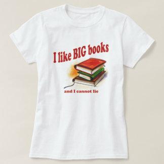 Camiseta Eu gosto de livros GRANDES