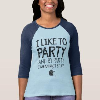 Camiseta Eu gosto de party e pelo partido eu significo o
