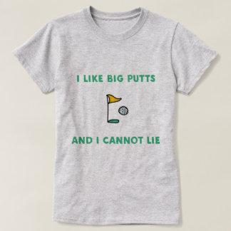 Camiseta Eu gosto de tacadas leves grandes e eu não posso