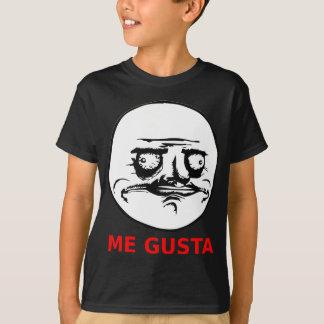 Camiseta Eu Gusta enfrenta com texto