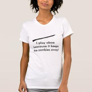 Camiseta Eu jogo o beacause que do oboe mantem os zombis