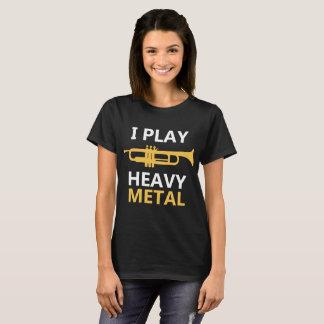 Camiseta Eu jogo o t-shirt do metal pesado - jogador de