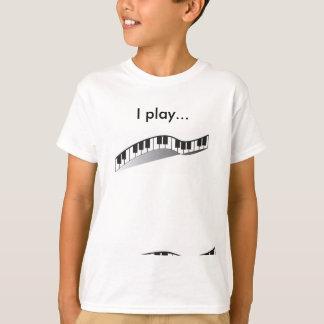 Camiseta Eu jogo o tshirt do piano