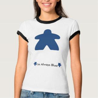 Camiseta Eu jogo sempre o t-shirt azul de Meeple