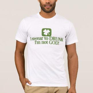 Camiseta Eu juro ao bebado que eu não sou deus