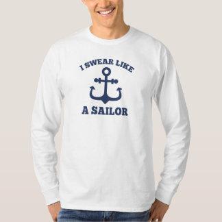Camiseta Eu juro como um marinheiro