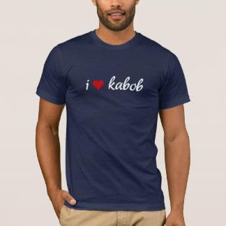 Camiseta Eu kabob do coração mim amo o kabob