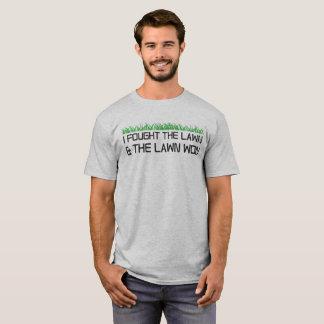 Camiseta Eu lutei o gramado e o gramado ganhados