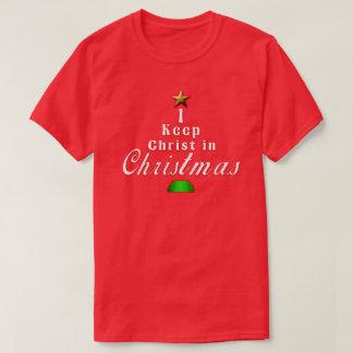 Camiseta Eu mantenho o cristo no t-shirt vermelho do