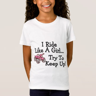 Camiseta Eu monto como uma tentativa da menina para