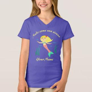 """Camiseta """"Eu nado como o t-shirt espanhol das meninas de"""