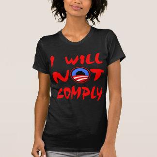 Camiseta Eu não cumprirei Obama
