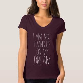 Camiseta Eu não estou dando acima em minhas citações