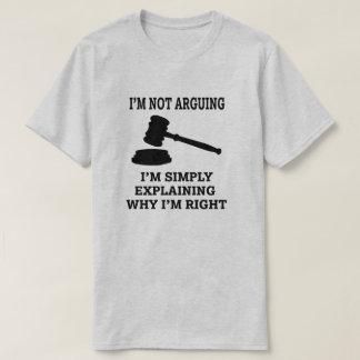 Camiseta Eu não estou discutindo, mim estou explicando