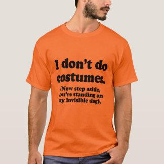 Camiseta Eu não faço trajes, piso agora de lado